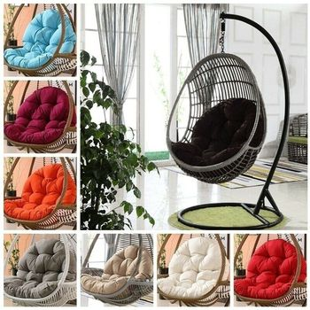 Thick Egg Chair Cushion Lazysofa Mat Outdoor Indoor for Patio Bedroom Balcony Hanging Swing Soft warm with pure cotton in winter