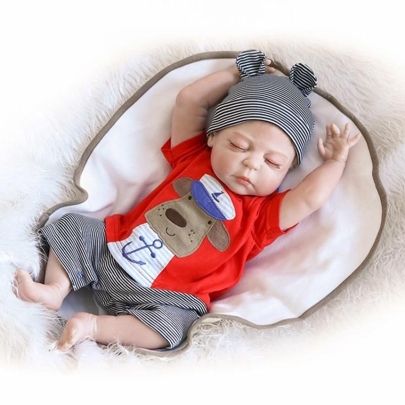 49CM premie bebes Reborn poupées réaliste nouveau-né bébé poupée doux corps complet silicone Boneca poupée poupée noël Surprice