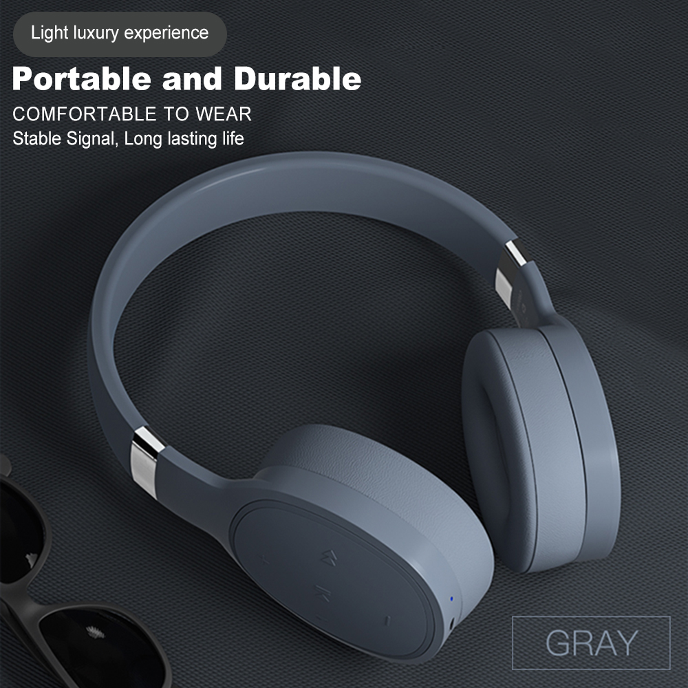 IKOLE Bluetooth 5.0 Wireless Over the Ear Headset Deep Bass Hi-Fi Stereo Sound with rubber, Comfortable to Wearing Headphone 6