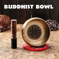 Tibetan Meditation Singing Bowl Nepalese Buddhist Chanting Bowl Buddhist Sound Therapy Bowl Mallet Mat Copper Handmade Carft
