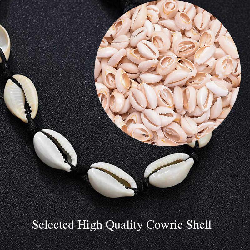 Chandler Cowire Sea Shell สร้อยคอ Choker Conch Ocean Sea Beach เครื่องประดับ Bohemian Boho ฤดูร้อน Choker Bijoux Sea Shell Collier