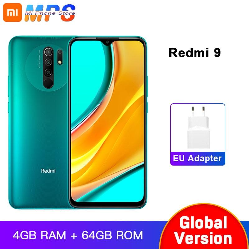 Глобальная версия смартфона Redmi 9 4 Гб 64 ГБ, Восьмиядерный медиаплеер Tek Helio G80, 13 МП, камера заднего вида, 5020 мАч, Redmi9 Type-c