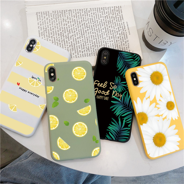 Fruit Flower Soft Phone Case For iPhone 7 Plus X XR XS Max 6 6S 7 8 Plus 5 5S SE 2020 Back Cover For iPhone 12 11 Pro Max Funda 1