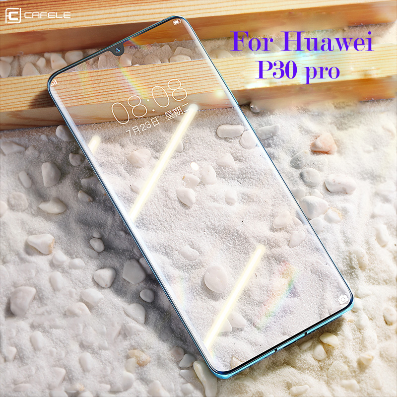 CAFELE Tempered <font><b>Glass</b></font> For <font><b>Huawei</b></font> <font><b>P30</b></font> P40 <font><b>Pro</b></font> V30 <font><b>Pro</b></font> Magic 2 Screen <font><b>Protector</b></font> Full Coverage Curved 6D Edge Protective <font><b>Glass</b></font> image