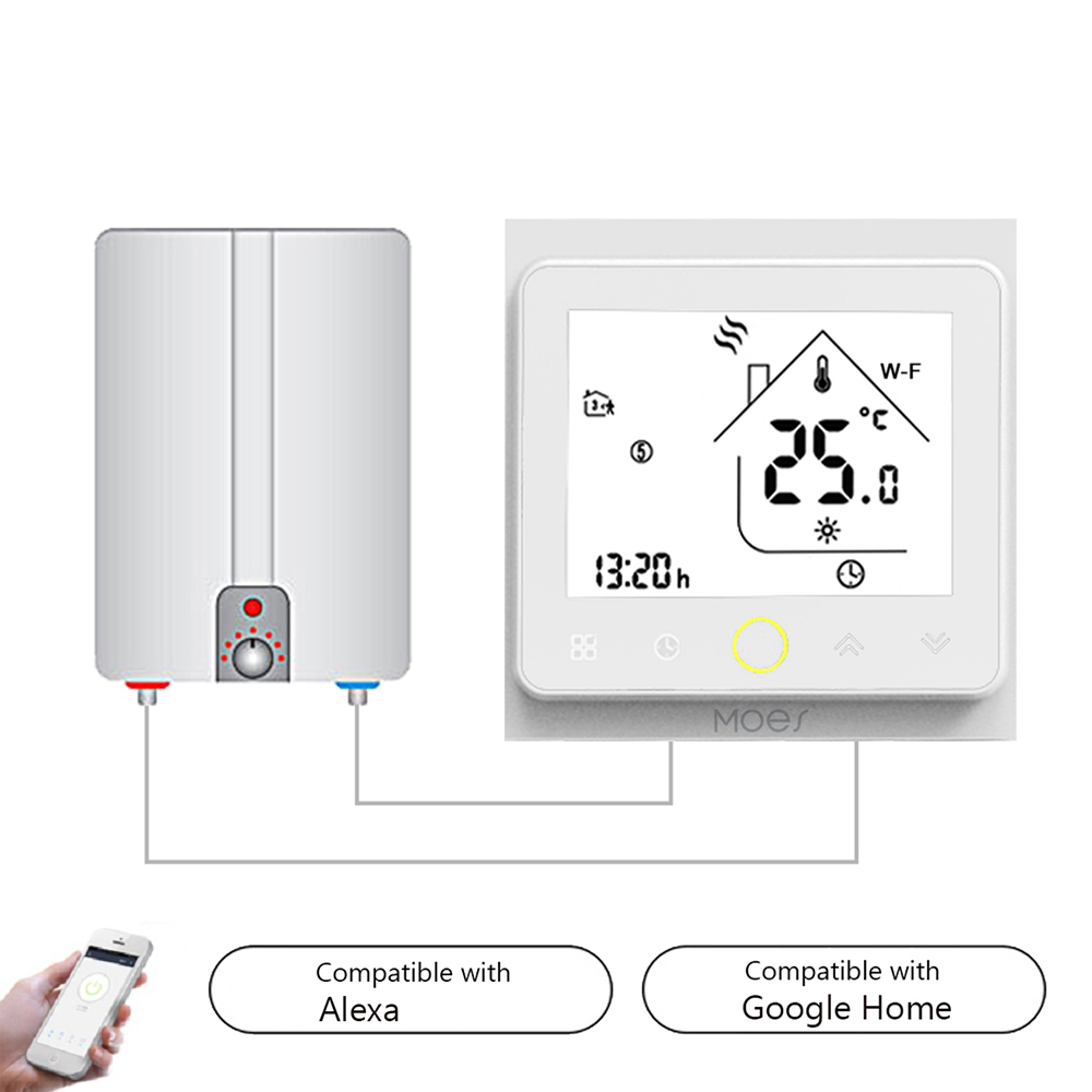 Hot WiFi Smart Thermostat Temperature Controller For Water/Electric Floor Heating Water/Gas Boiler Works With Alexa Google Home