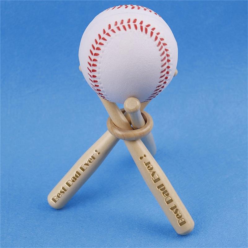 Mini Baseball Bat Rack Holder Golf Ball Storage Display Wedding Party Junior Engrave Trophy Personalized Custom Engrave Dad Gift