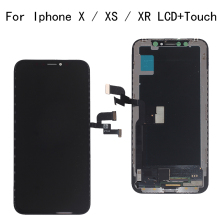 High Quality LCD For iPhone X XS XR Flexible Rigid Hard OLED GX AMOLED Display Soft Screen with 3D touch