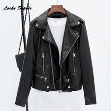 Womens Plus size short jacket coats 2019 Autumn Fashion faux fur PU Leather Splicing Small Jacket ladies Skinny locomotive