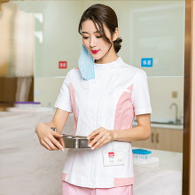 The new long-sleeved women's split suit for nurses is a two-piece suit with a fat lapel collar