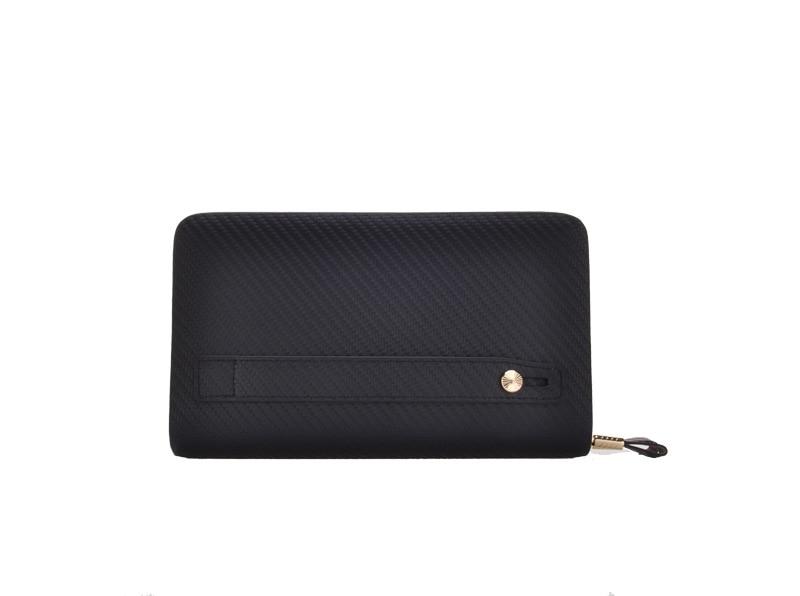 genuine leather  long purse solid zipper wallets for men