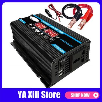 4000W 12V to 220V/110V LED Car Power Inverter Converter Charger Adapter Dual USB Voltage Transformer Modified Sine Wave 2000w 220vdc to 110v 220vac off grid pure sine wave single phase solar or wind power inverter surge power 4000w