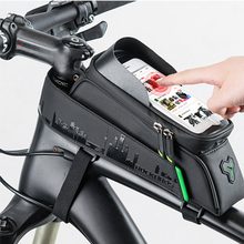 ROCKBROS 6 Bicycle Bags Front Phone Case Tube Durable Waterproof Touch Screen MTB Road Ultralight Bike Big Bag Accessories