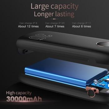 Внешний аккумулятор KUULAA на 30 000 мАч с портами USB Type-C и поддержкой быстрой зарядки 5