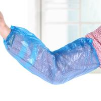 100 pces luvas de braço de plástico descartáveis de limpeza impermeável protetora cobre oversleeves|Mangotes| |  -