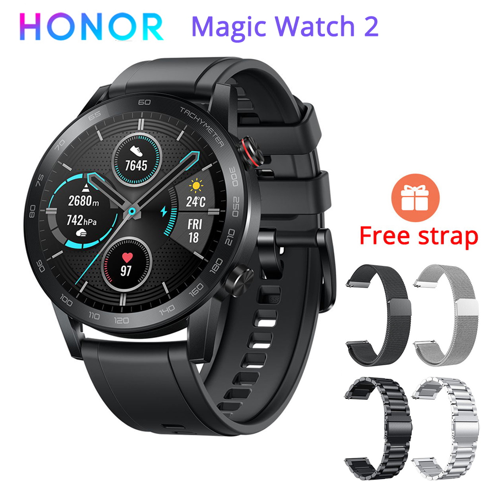 "Global Version Original Honor Magic 2 Minos Smartwatch 46MM 14 Day Battery Life 1.39"" AMOLED Always on Display 5ATM GPS Watch on AliExpress"