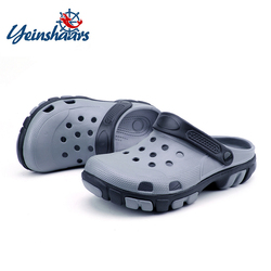 YEINSHAARS New Men's Beach Croc Clogs Shoes Garden Shoes Men's Slippers Casual Non-slip Thick Sandals and Summer
