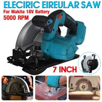 1000W Electric Circular Saw 180mm Power Tools Dust Passage 5000RPM Multifunction Cutting Machine For Makita 18V Battery
