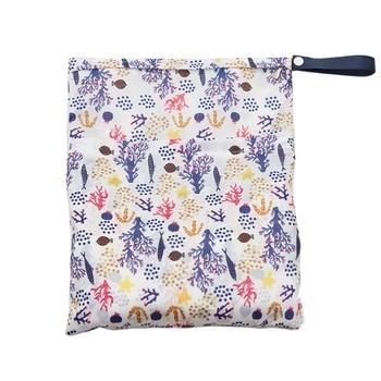 Waterproof Reusable Wet Bag Printed Pocket Nappy Bags PUL Travel Dry 29x36cm Diaper