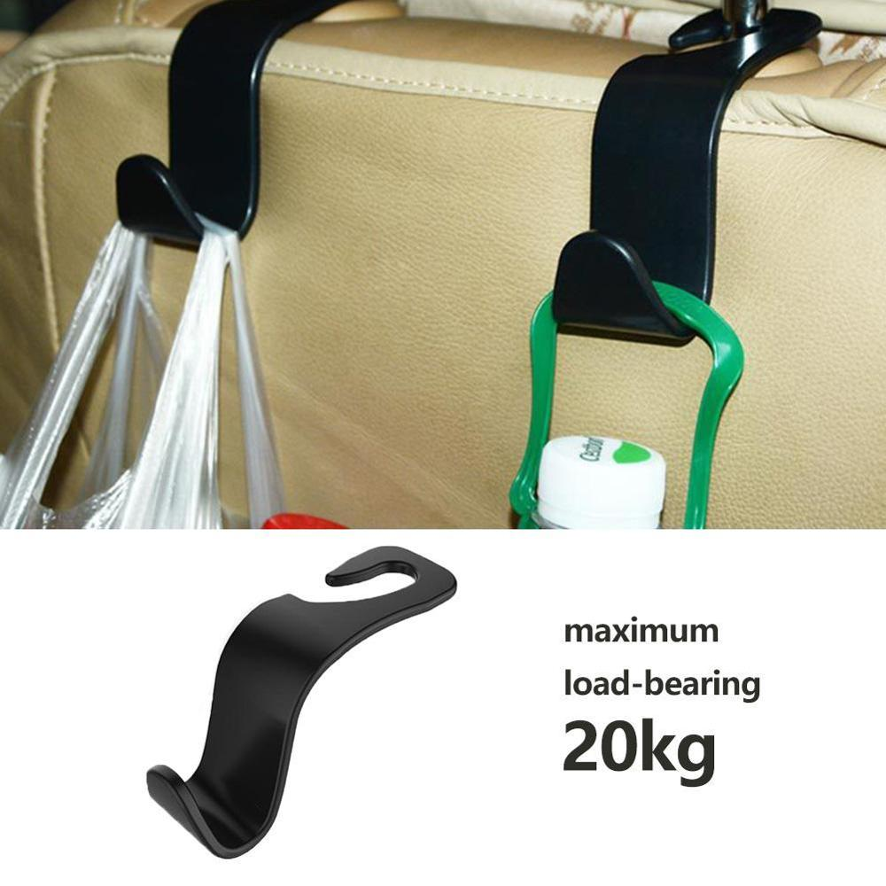 Creative Car Seat Back Hooks Hanger Organizer Universal Styling Car Hook Simple Hook Storage Storage Mount House Headrest C H8F8