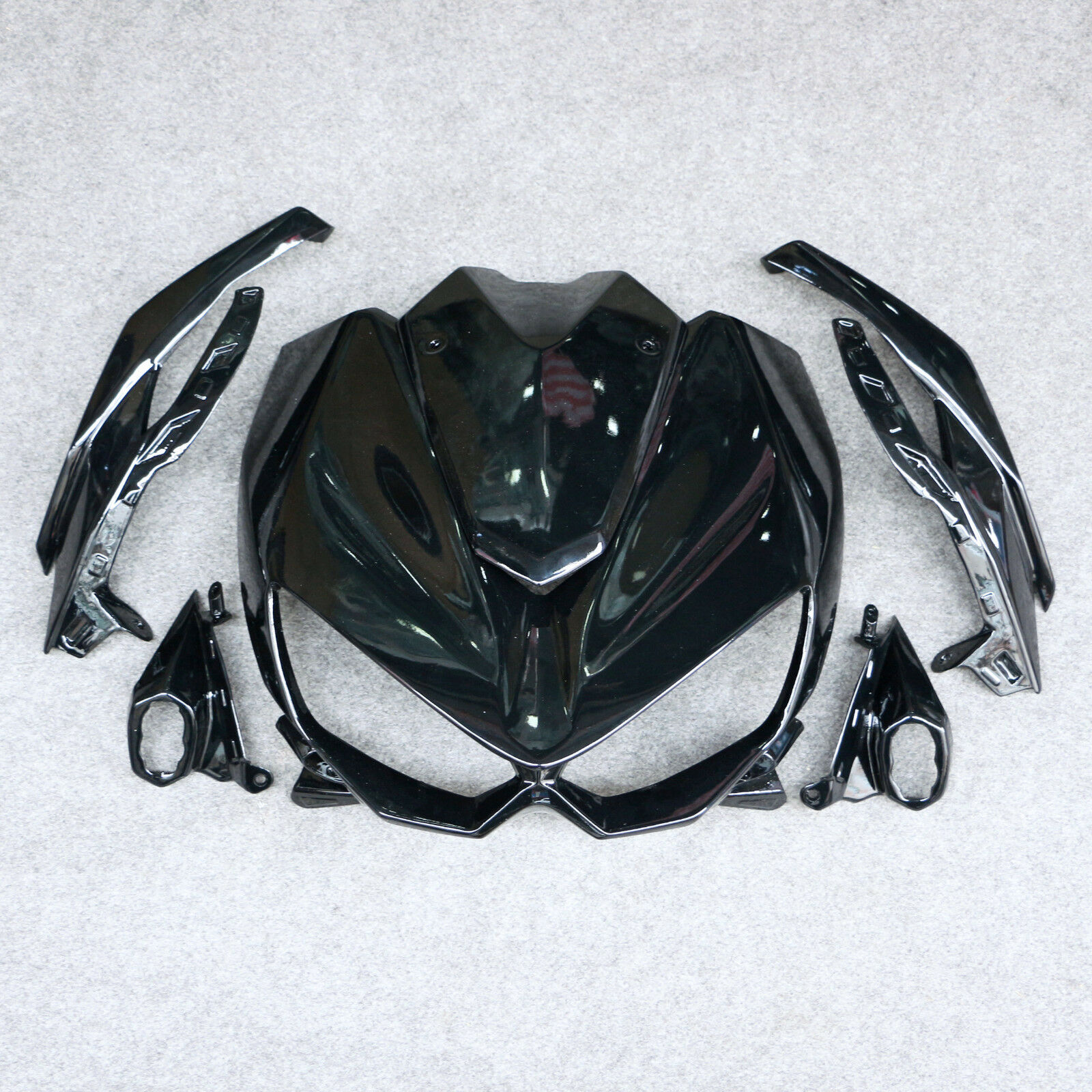 Pearl Black Fit For Z1000 2014-2016 2015 Z 1000 Motorcycle ABS Front Upper Cowl Nose Fairing