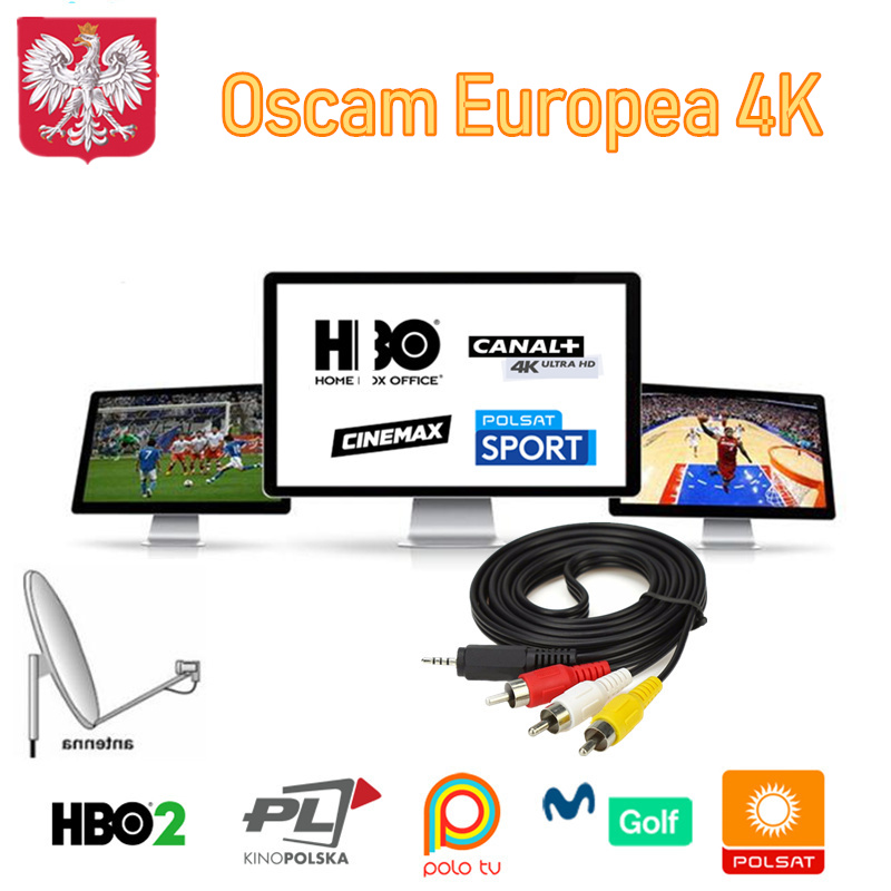Cccam Europa Oscam Europea Portugal Germany Spain Oscams 8 Lines 4k Poland Italia For Enigma 2 Receptor Cline Server Canal Dazn