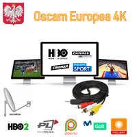 Cccam Europa oscamm Europa Portugal Alemania España Oscams 8 líneas 4k Polonia Italia para Enigma 2 Receptor Cline servidor Canal Dazn