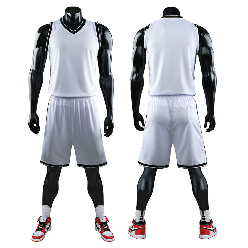 Kids Adult Basketball Jersey Set Clissic <font><b>Mens</b></font> Plain Custom Print Blank Training Vest Double Pocket <font><b>Shorts</b></font> Children Sports <font><b>Suit</b></font> image