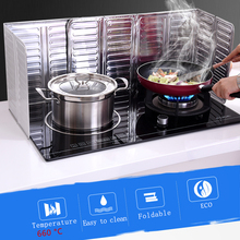 gas stove oil splatter screens  splash guard Cooking aluminum film baffle High temperature resistance kichen accessories