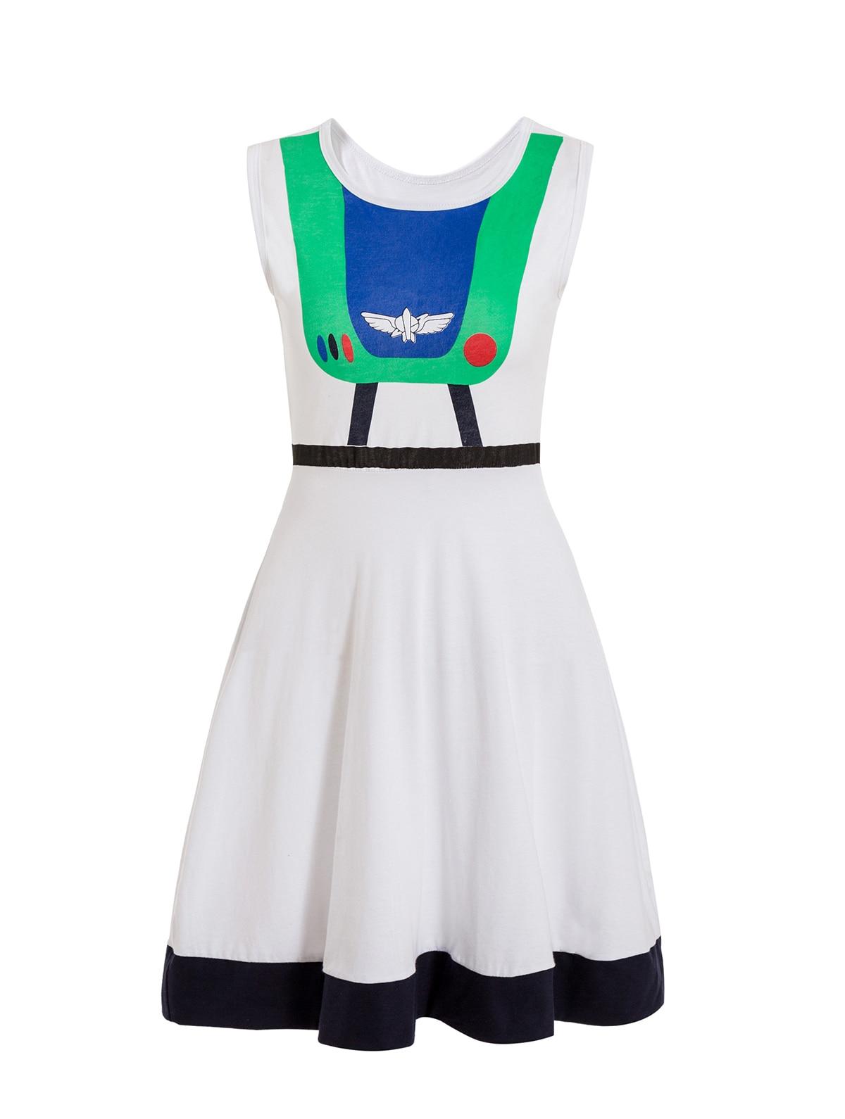 Платье принцессы для взрослых; одинаковый семейный маскарадный костюм «Минни Маус и я»; женское платье принцессы в горошек; большие размеры - Цвет: buzz lightyear