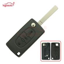 CE0536 remote key case replacement 3 button VA2 for Citroen C2 C3 C4 C5 flip shell Peugeot 207 307 407 408 kigoauto