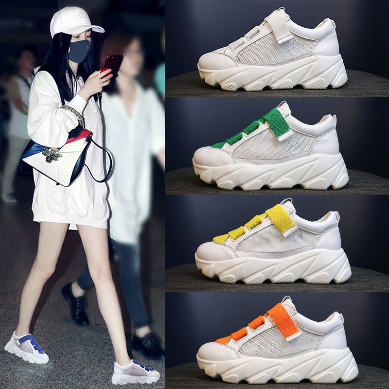 Summer Shoes Ladies Casual Female Sneakers Wedge Basket 2019 Designer Brand Luxury Women Round Toe Clogs Platform Sports