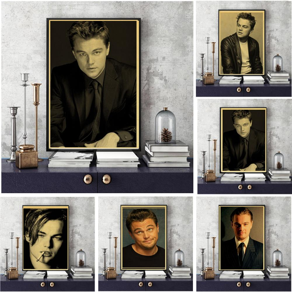 <font><b>Leonardo</b></font> <font><b>DiCaprio</b></font> kraft poster Retro Poster Vintage poster Wall Decor For Home Bar Cafe Personalised Room Decoration image
