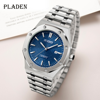 PLADEN Luxury Quartz Men Watch Waterproof Shockproof Stainless Steel Butterfly Buckle Luminous Ome Together Major Holiday Gifts lacywear s 2 ome