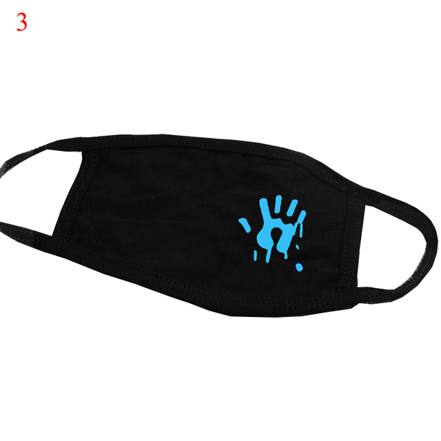 Luminous Masks On Mouth Black Air Pollution Mouth Mask Anime Anti Dust Masks Windproof Mouth-muffle Bacteria Proof Flu Face Mask 1