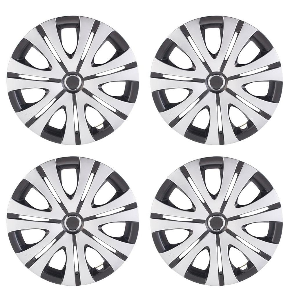 4pcs/Set <font><b>14</b></font>/15inch <font><b>Car</b></font> <font><b>Wheel</b></font> Hub Caps Universal <font><b>Car</b></font> Hubcap <font><b>Wheel</b></font> Rim Skin <font><b>Cover</b></font> for Decoration image