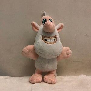 25cm popular russo anime dos desenhos animados tv booba buba brinquedo de pelúcia boneca animais de pelúcia pequeno porco branco crianças presente criativo boneca