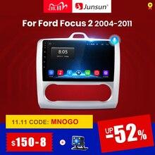 Junsun V1 2G + 32G Android 10.0 DSP ford focus 2 için Mk2 2004 2011 araba radyo multimedya Video oynatıcı navigasyon GPS RDS 2 din dvd