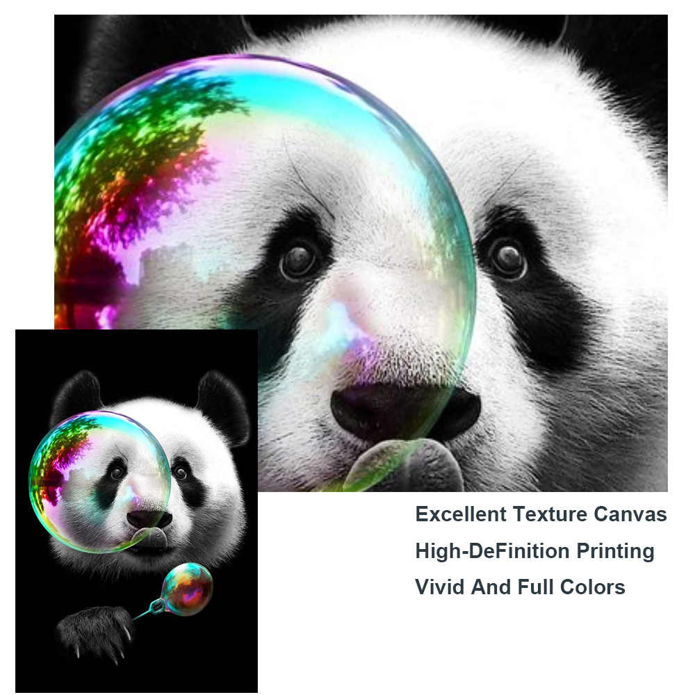 Panda Pair Animal Paintings HD Print on Canvas Home Decor Wall Art Picture