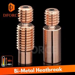 Coupure de chaleur bimétallique bimétal DFORCE pour E3D V6 HOTEND bloc chauffant pour Prusa i3 MK3 break 1.75MM Filament lisse