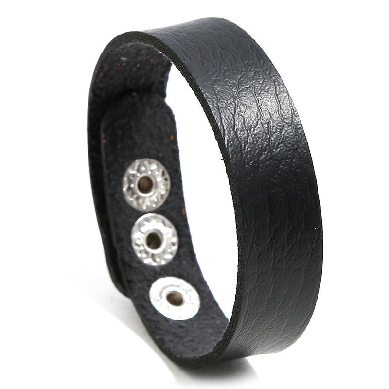 NIUYITID Adjustable Leather Bracelets For Women Men Simple Woman Bracalete Femme Charm Braclet 10 Colors drop shipping