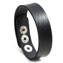 Niuyitid регулируемые кожаные браслеты для женщин и мужчин простые