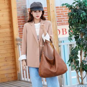 Image 5 - 2020 nowe kluski Hobos torby dla pań o dużej pojemności torby na ramię proste projektowanie mody torebki damskie duże casualowe torby tote