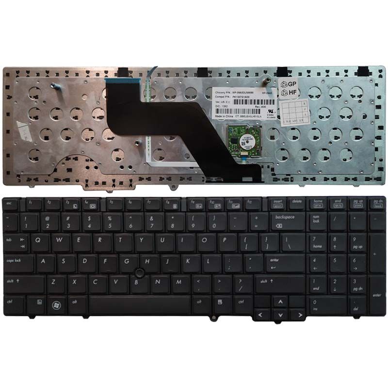 New US laptop <font><b>Keyboard</b></font> For <font><b>HP</b></font> EliteBook 8540 <font><b>8540P</b></font> 8540W with pointing sticks image