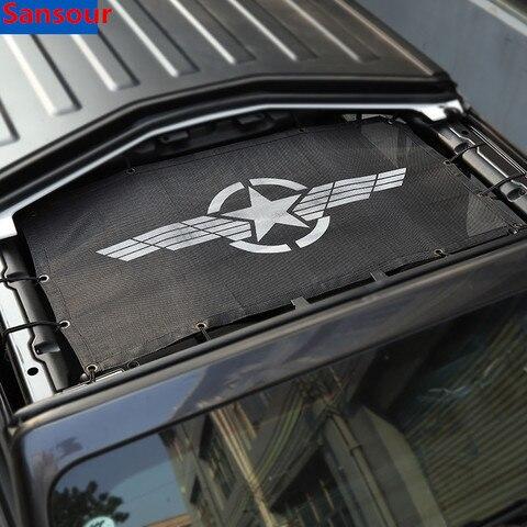 sansour carro superior para sol capa para jeep wrangler jl 2018 telhado anti uv protecao