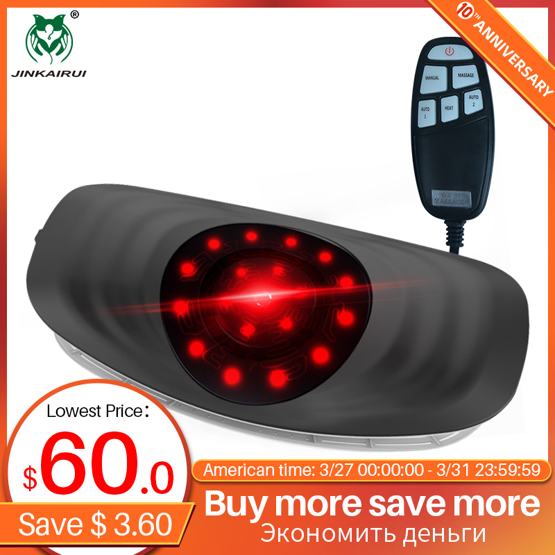 Jinkairui Electric Lumbar Traction Machine Waist Massager Vibration Massage Support Lumbar Spine Relieve Waist Fatigue