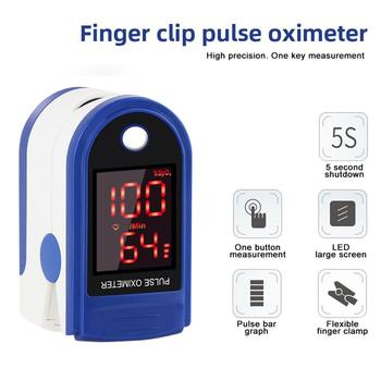 Portable Finger Oximeter Fingertip Pulsoximeter With Sleep Monitor Blood Pressure Heart Rate Spo2 PR Pulse Oximeter image