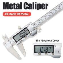 Calibrador electrónico Digital de Metal, herramienta Vernier, regla micrométrica, herramientas de medición de acero inoxidable, medidor LCD de 6 pulgadas, 0-150mm