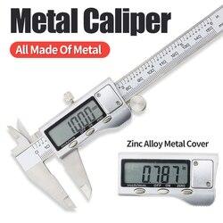 Digital Metal Calipers 6 Inch 0-150mm Electronic Measuring Tools LCD Gauge Micrometer Ruler Stainless Steel Vernier Caliper tool