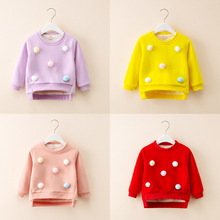 Toddler Girl Sweatshirt Infant Boy Coat Autumn Long Sleeve T-shirt Tops Baby Clothing Winter Warm Thick Pullover Sweatshirt cheap NoEnName_Null Fashion Without 0-6m 7-12m 13-24m 25-36m Cotton Unisex Solid O-Neck Hoodies Regular Fits true to size take your normal size