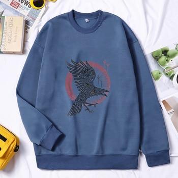 Men Viking Sweatshirt Hoodie Pullovers Valhalla Odin Hoodie Fashion Hoodies Hombres Sudaderas Autumn Winter Hip Hop Streetwear 1